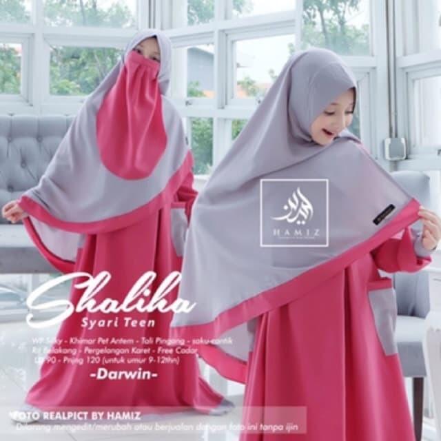 Jual Shaliha Syari Teen Gamis Anak Remaja Khimar Cadar Wolfis Original Shof Kab Bogor T Fashion19 Tokopedia