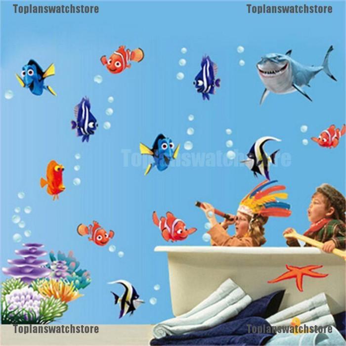 Jual 10pcs Stiker Dinding Decal Desain Kartun Sea Fish Dapat Dicopot Jakarta Pusat Isalaila74 Tokopedia
