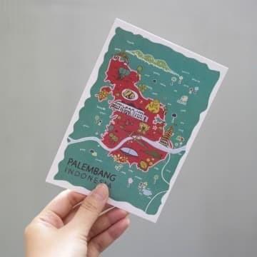 Foto Produk Palembang Postcard by Lestari - Kartu Pos Ilustrasi SALE dari LestariPostcard