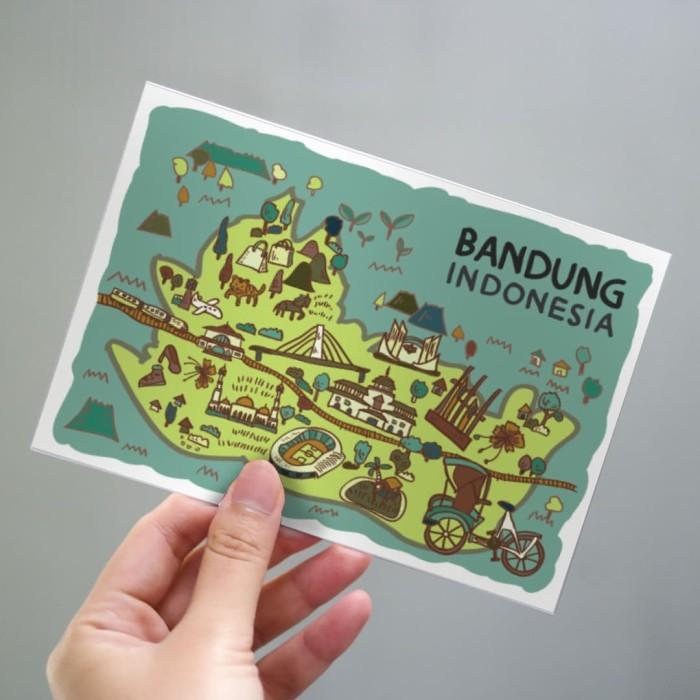 Foto Produk Bandung Postcard by Lestari - Kartu Pos Ilustrasi dari LestariPostcard