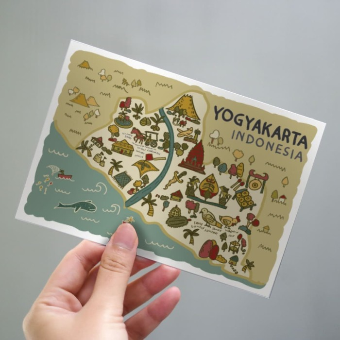 Foto Produk Yogyakarta Postcard by Lestari - Kartu Pos Ilustrasi dari LestariPostcard