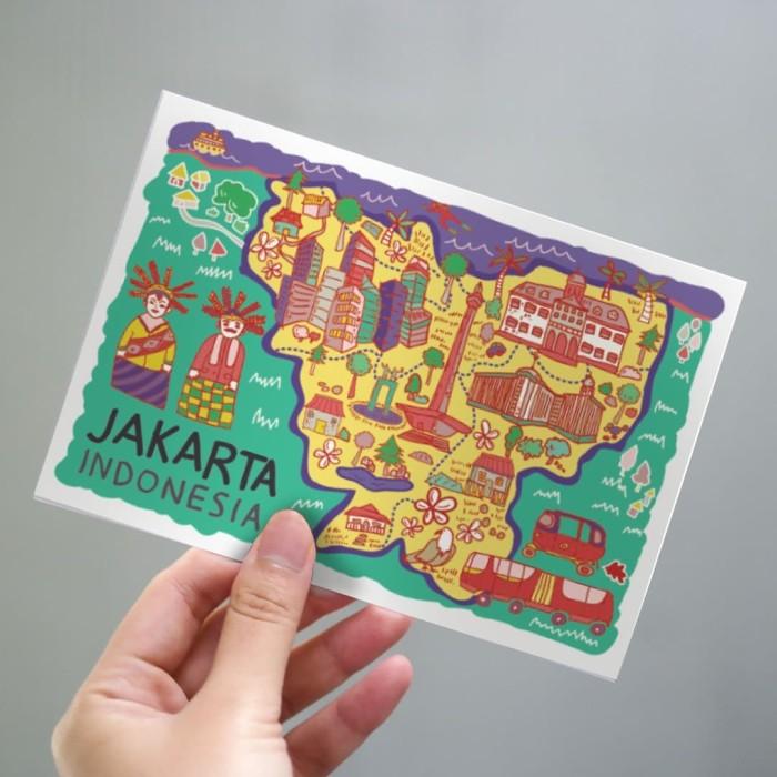 Foto Produk Jakarta Postcard by Lestari - Kartu Pos Ilustrasi dari LestariPostcard