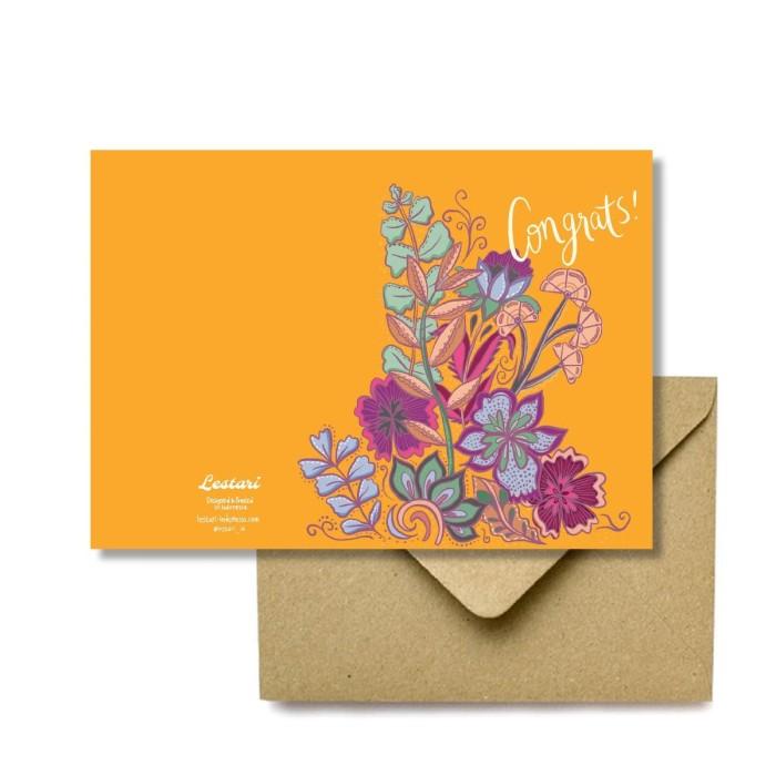 Foto Produk Congrats Batik Greeting Card - Kartu Ucapan Ilustrasi by Lestari dari LestariPostcard