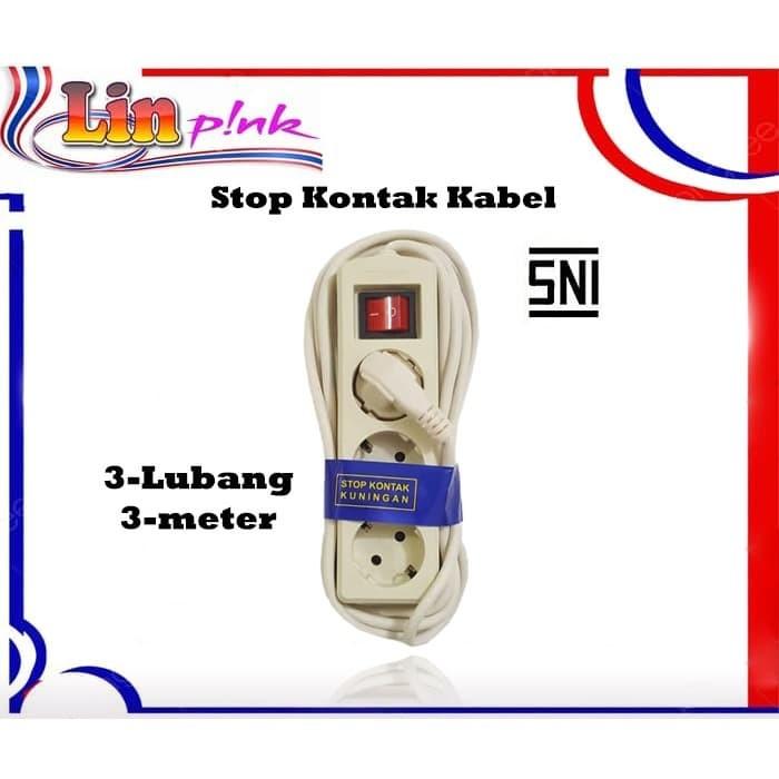 Foto Produk LP STOP KONTAK 3 LUBANG PANJANG 3METER / COLOKAN LISTRIK dari Lin-Pink Online Shop