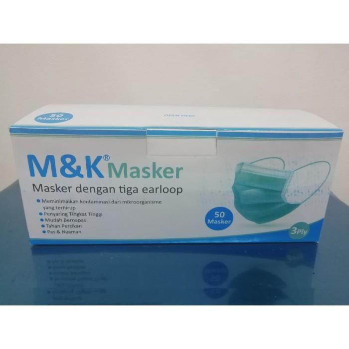 Foto Produk Masker Medis M&K 3Ply Disposible Surgical Mask Isi 50 Pcs dari Anugerah Rezeki OlShop