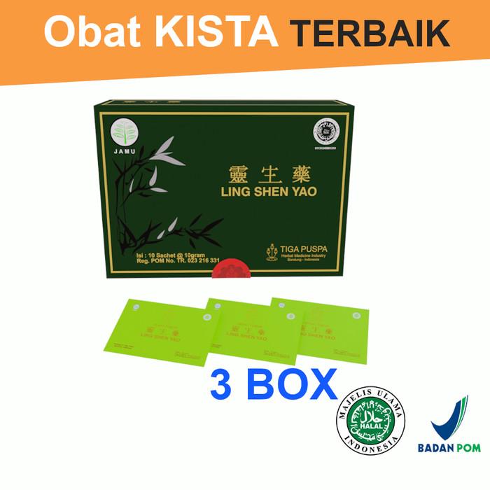 Foto Produk Promo 3 Box - Ling Shen Yao Serbuk - Obat Herbal Kista - Lingshenyao dari Lingshenyao(Obat Herbal)