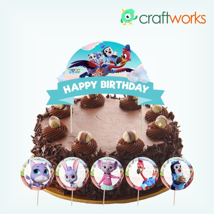 Jual Cake Topper Set Tots Disney Jakarta Utara Oja Store Tokopedia