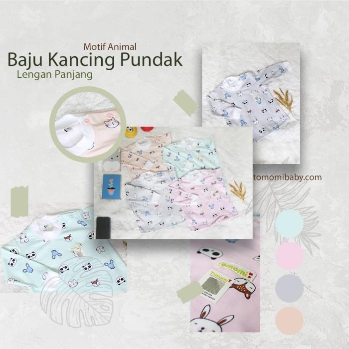 Foto Produk Setelan Baju Bayi Piyama Motif Animal Panjang - Biru Muda, 3-6 Bulan dari Tomomi Baby Wear