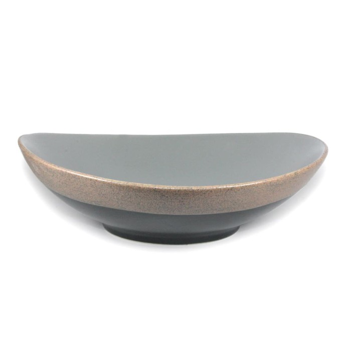 Foto Produk Artisan Ceramic   Grey/Terracota Fusion Pasta Bowl   Mangkok Keramik dari Artisan Ceramic
