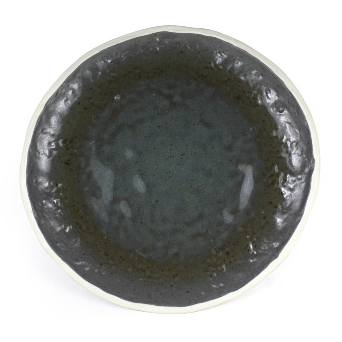 Foto Produk Artisan Ceramic | Double Glaze Grey Oyster BB Plate| Piring Keramik dari Artisan Ceramic