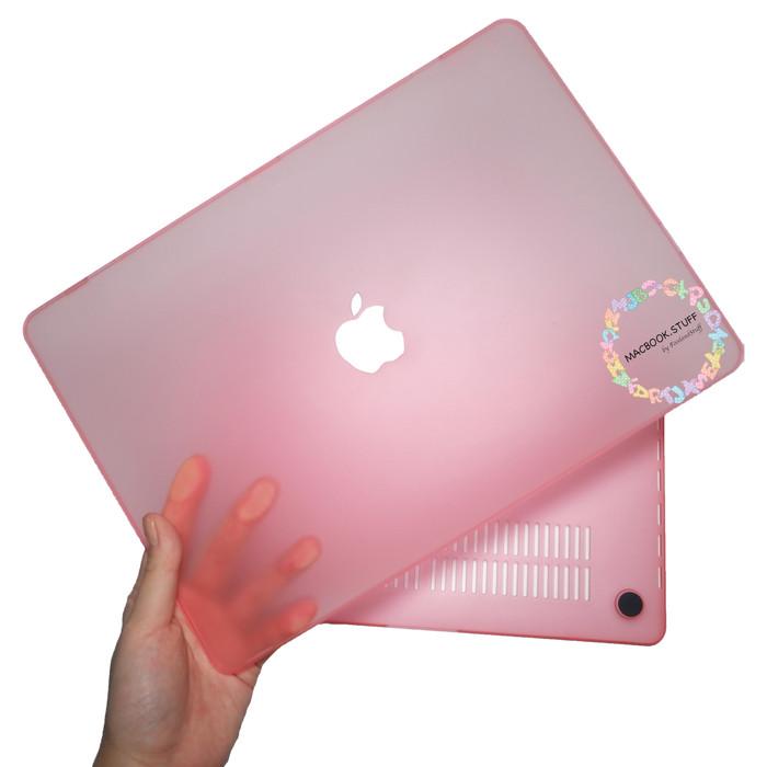 Foto Produk PAKET MACBOOK CASE MATTE NEW AIR PRO RETINA TOUCHBAR 11 12 13 15 16 - Merah Muda dari Macbook.Stuff