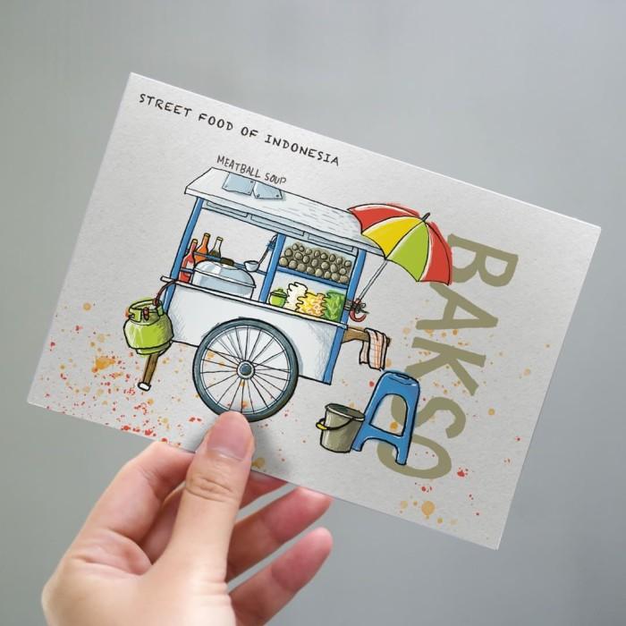 Foto Produk Bakso Postcard by Lestari - Kartu Pos Ilustrasi dari LestariPostcard
