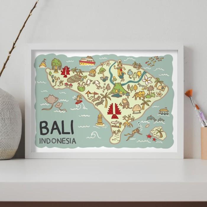 Foto Produk Bali Art Print A3 Size 42x29.7 cm - No Frame dari LestariPostcard