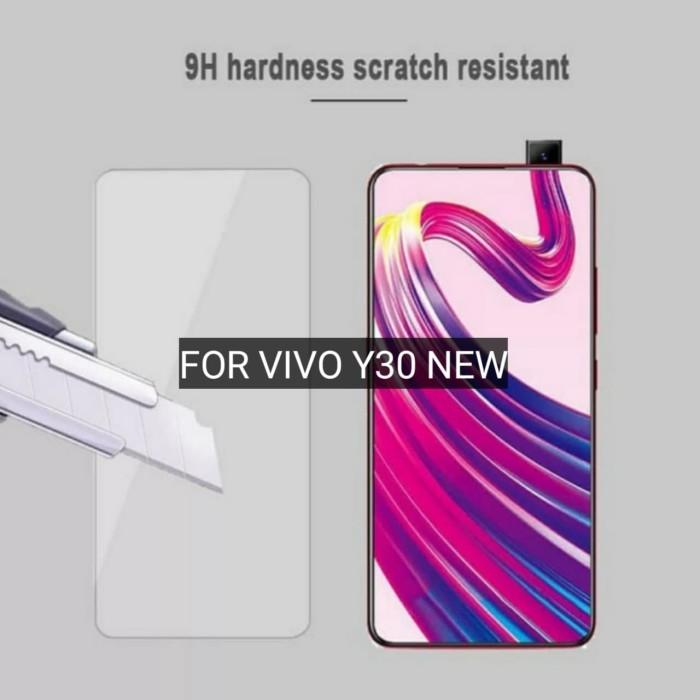 Foto Produk Vivo Y30 New Tempered Glass Clear Anti gores Kaca Bening Screen guard dari SIP ACC
