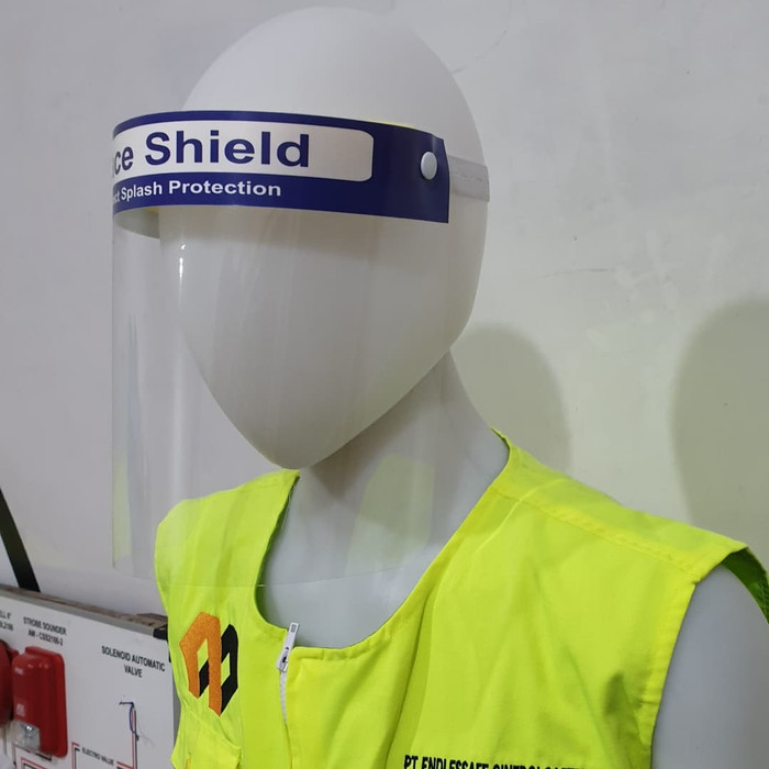 Foto Produk Disposable Face Shield / Helm Petugas Medis / Pelindung Muka - Standar dari GudangSafetyCom