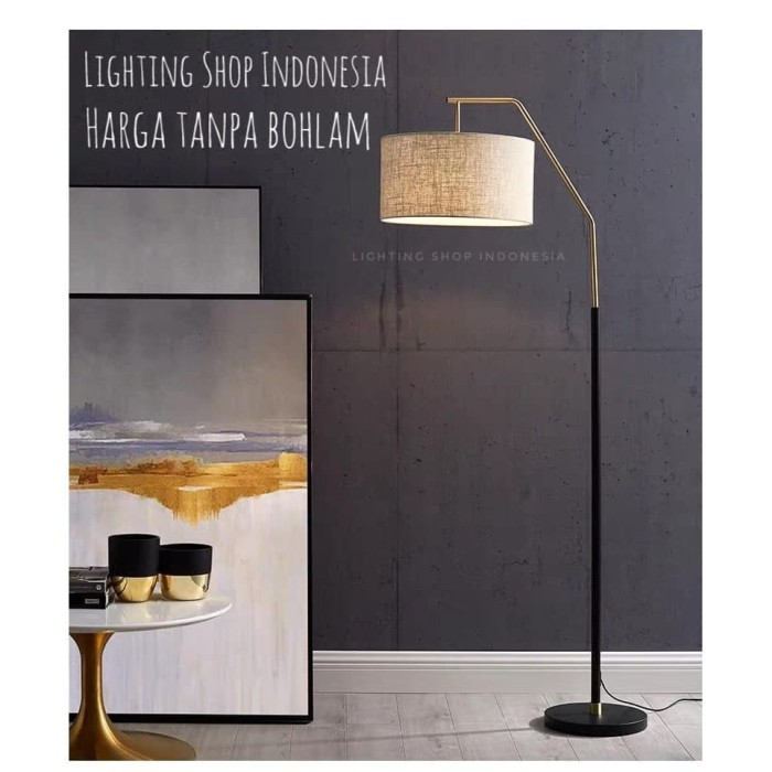 Jual Lampu Standing Minimalis Modern Floor Lamp Hitam Gold Ruang Tamu Hotel Jakarta Pusat Lighting Shop Indonesia Tokopedia