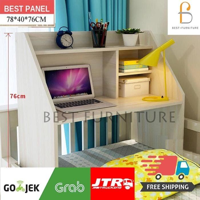Foto Produk Best Mini Desk Meja, Belajar dan Rak Multifungsi Lesehan - Putih - Putih dari BestLivings