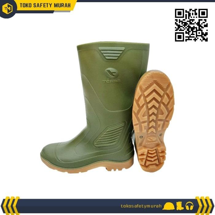 Foto Produk Sepatu Boot AP Terra Eco 3 Hijau Karet dari Toko Safety Murah