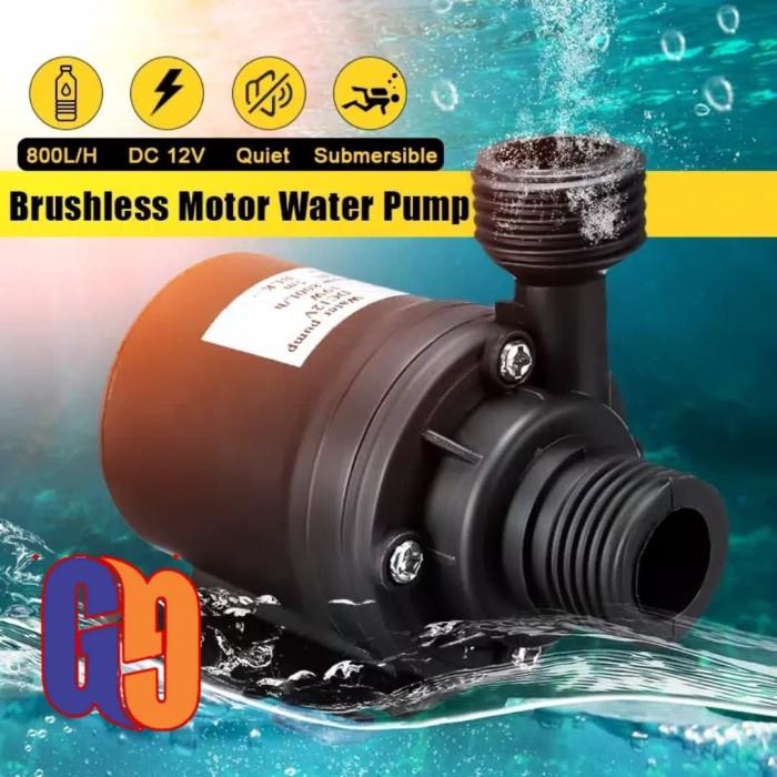 Jual pompa air celup DC 12 volt aquarium hidroponik 800L/H ...