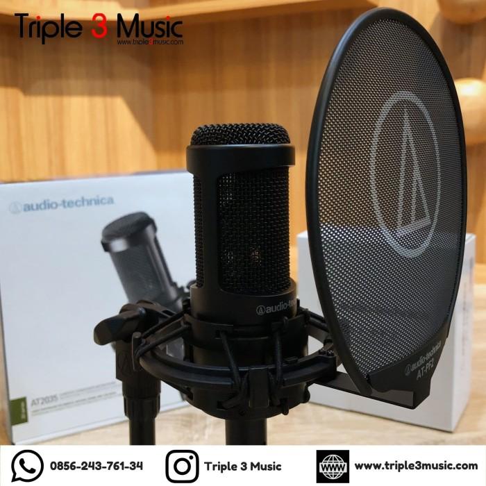 Foto Produk AUDIO TECHNICA AT2035 With AT PF2 POP FILTER ORIGINAL dari triple3music