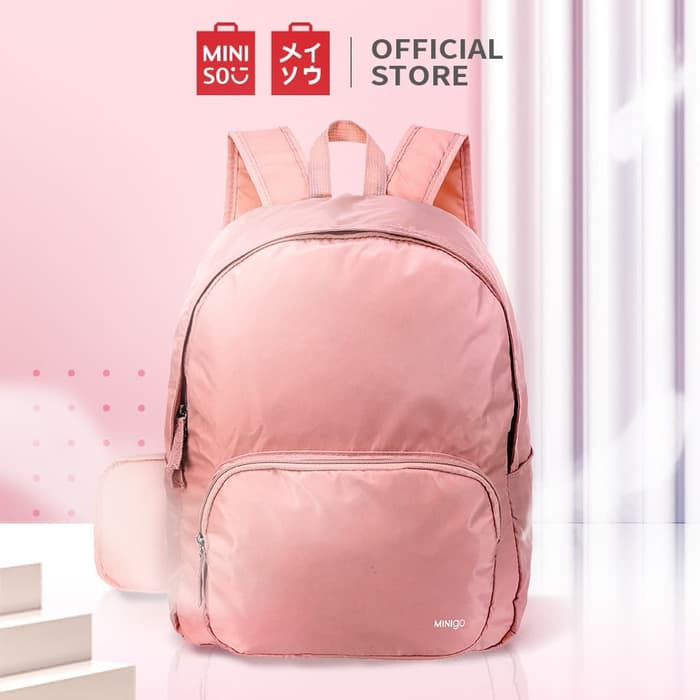 Foto Produk Miniso Official Minigo Foldable Backpack - Merah Muda dari Miniso Indonesia