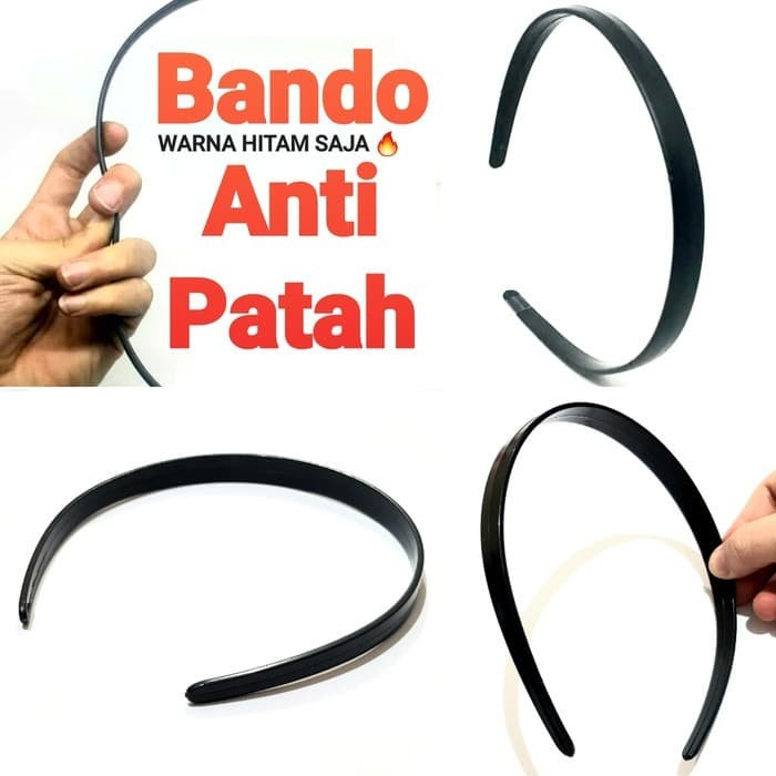 Foto Produk BANDO PRIA wanita hitam BANDO ANTI PATAH bando sport casual murah dari Kado Toys