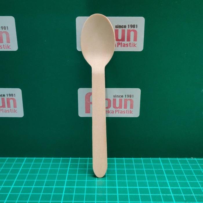 Foto Produk Sendok Makan Kayu (Food Grade) Pack 100 dari Abun Aneka Plastik