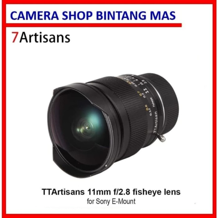 Foto Produk TTArtisan 11mm F2.8 Full Fame Fisheye Lens for Sony Emount Cameras dari Camera Shop Bintang Mas