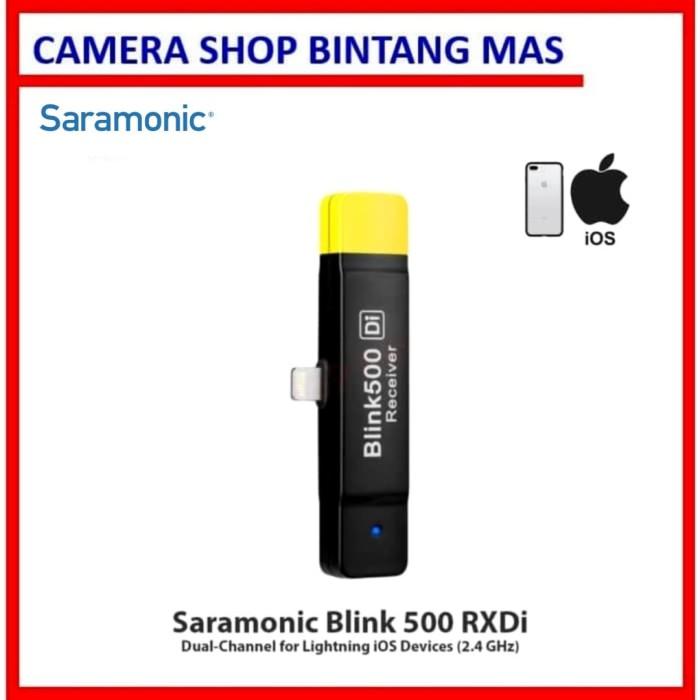 Foto Produk Saramonic Blink 500 RXDi Dual-Channel for Apple iOS Devices (2.4 GHz) dari Camera Shop Bintang Mas