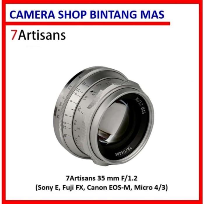 Foto Produk 7Artisans 35mm F/1.2 Lens Silver (Sony E, Canon EOS-M, Fuji FX, M4/3) dari Camera Shop Bintang Mas