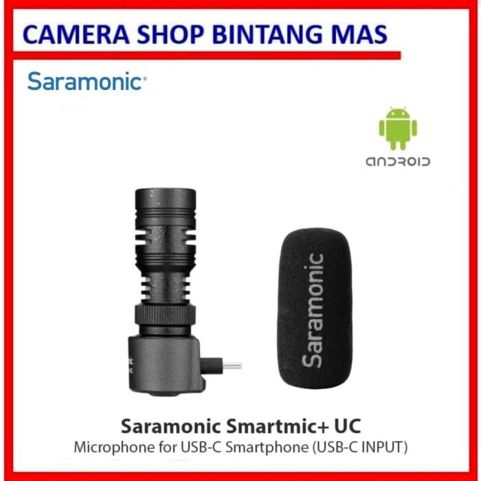 Foto Produk Saramonic Smartmic+ UC Microphone for USB-C Smartphone (USB-C INPUT) dari Camera Shop Bintang Mas
