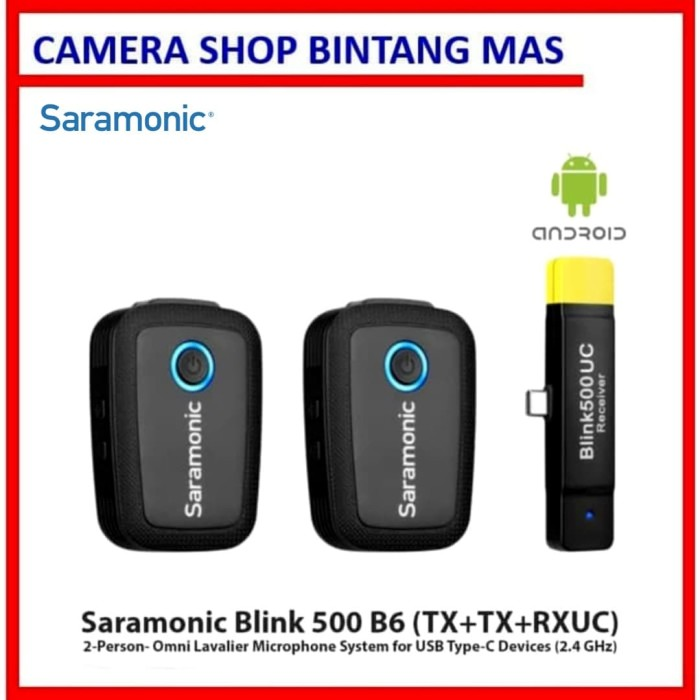 Foto Produk Saramonic Blink 500 B6 2-Person for USB Type-C Devices (2.4 GHz) dari Camera Shop Bintang Mas