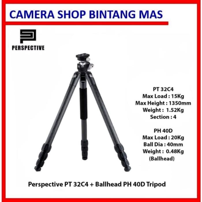 Foto Produk Perspective PT 32C4 + Ballhead PH 40D Tripod Landscaper (Up to 15Kg) dari Camera Shop Bintang Mas
