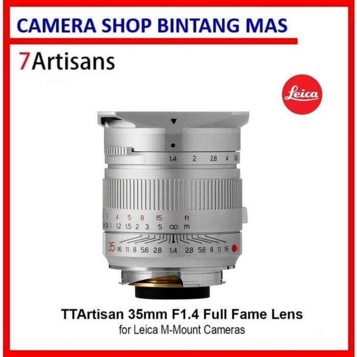 Foto Produk TTArtisan 35mm F1.4 Full Fame Lens for Leica M-Mount Cameras -SIlver dari Camera Shop Bintang Mas
