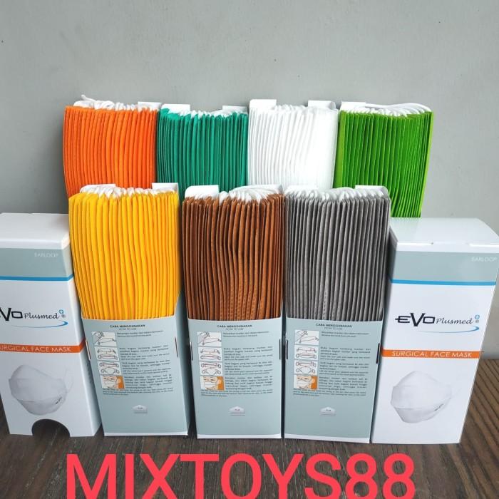Foto Produk MASKER EVOPLUSMED SURGICAL MASK EVO PLUSMED 25 PCS - Orange dari mixtoys88