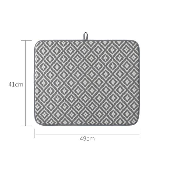 Jual Dish Drying Mat For Kitchen Sink Drainer Fiber Cushion Pad Jakarta Pusat Panggahstore Tokopedia