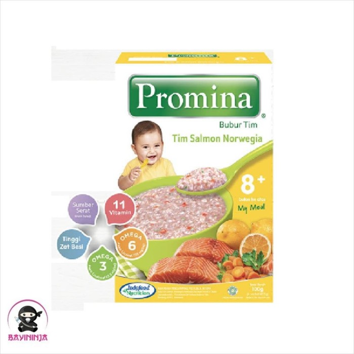 Foto Produk PROMINA Bubur Tim Salmon Norwegia 8 to 24 Bulan 100 g dari BAYININJA