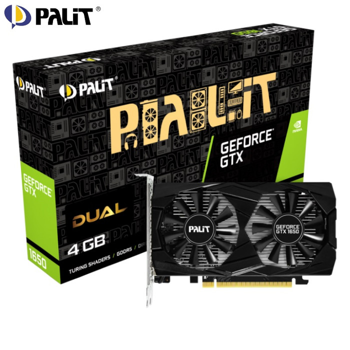 Foto Produk PALIT VGA GEFORCE GTX 1650 DUAL 4GB GDDR5 128 BIT GTX1650 4g dari PojokITcom Pusat IT Comp