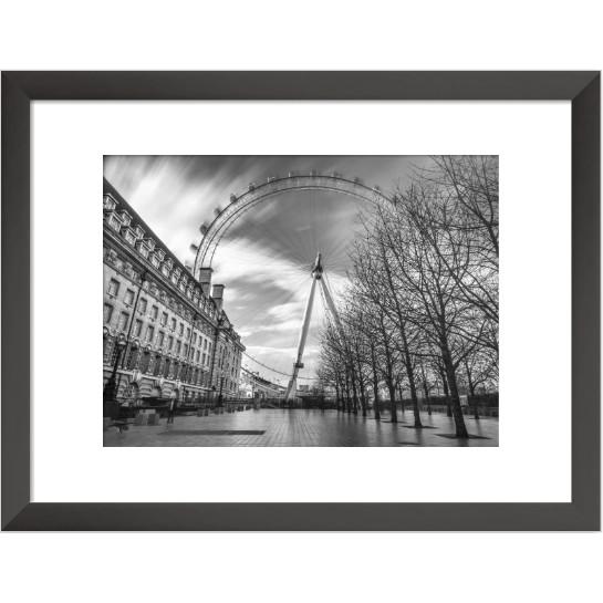 Jual Photography Wall Art In Black White Millenium Wheel London Kota Tangerang Selatan Qubic Art Tokopedia