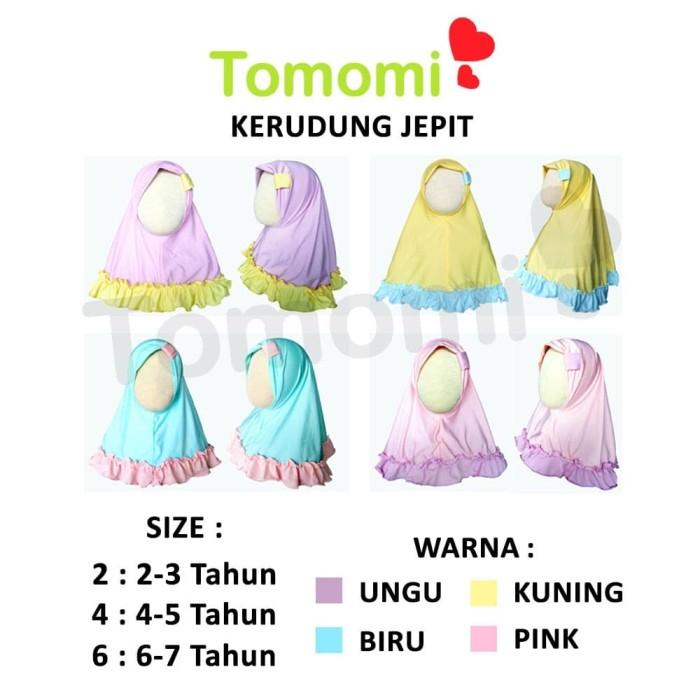 Foto Produk Kerudung Jepit Pastel Anak - Merah Muda, S dari Tomomi Baby Wear