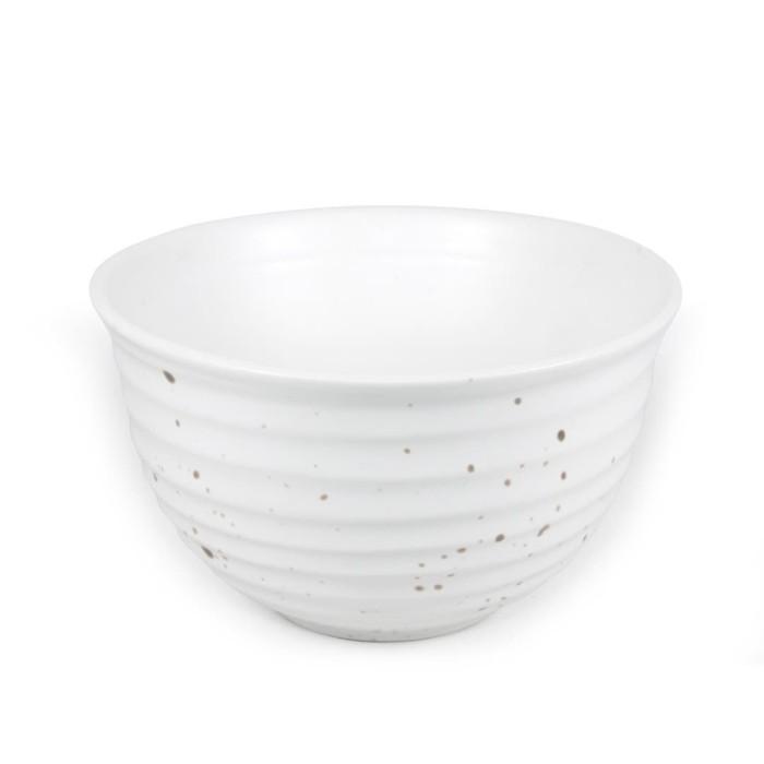 Foto Produk Artisan Ceramic   White Matt Spot IKD0 Bowl   Mangkok Kecil Keramik dari Artisan Ceramic