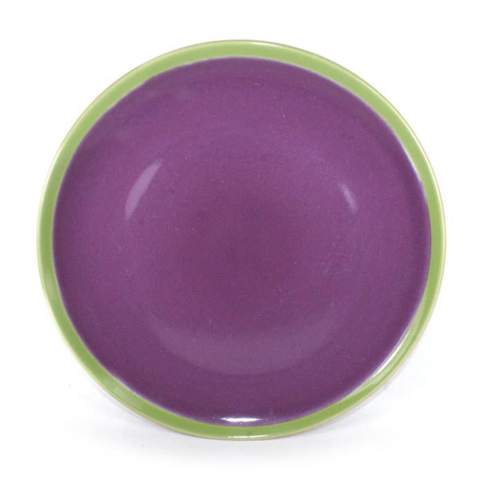 Foto Produk Artisan Ceramic | 3-tone Purple/Green/Orange Side Plate | Keramik dari Artisan Ceramic