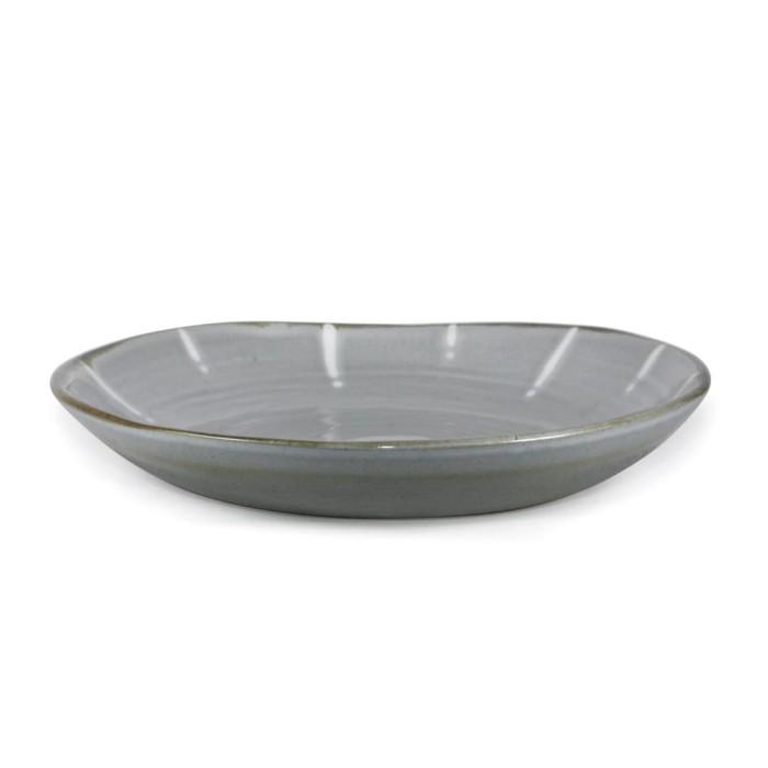 Foto Produk Artisan Ceramic | Double Glaze Wht Lagoon Pasta Bowl| Mangkok Keramik dari Artisan Ceramic