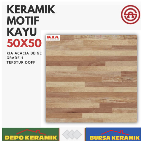 Jual Keramik Lantai Motif kAYU 50x50 KIA Acacia Beige ...