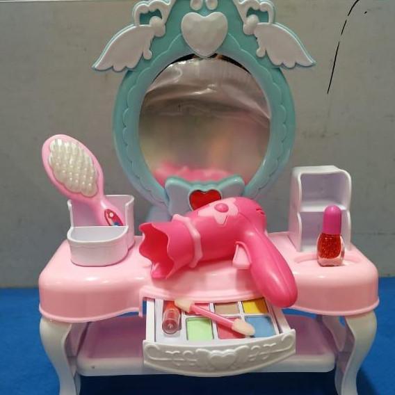 Jual Meja Rias Tanpa Musik Dresser Mainan Anak Make Up Kaca Sisir Eyeshadow Kota Surabaya Lullaby Babyshop Tokopedia