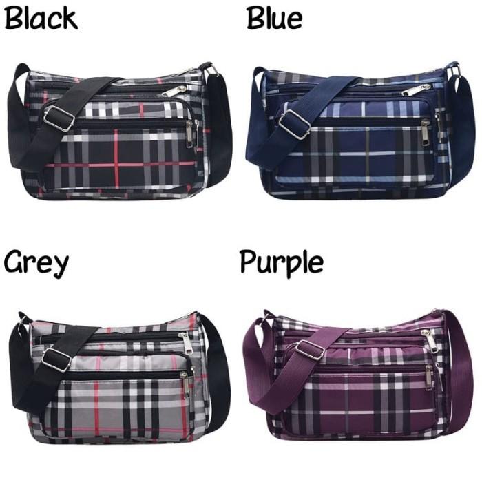Foto Produk Tas Selempang Sling Bag Nylon Wanita Model Kotak Kasual Style G150 dari Gudang Distributor Murah