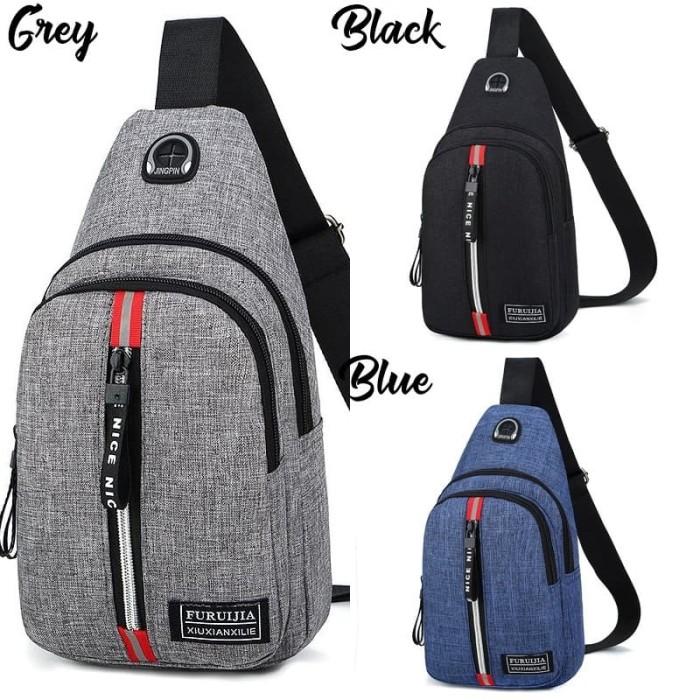 Foto Produk Sling Bag Cowok Cross Body Pack Tas Selempang Pria Kasual Import G5893 dari Gudang Distributor Murah