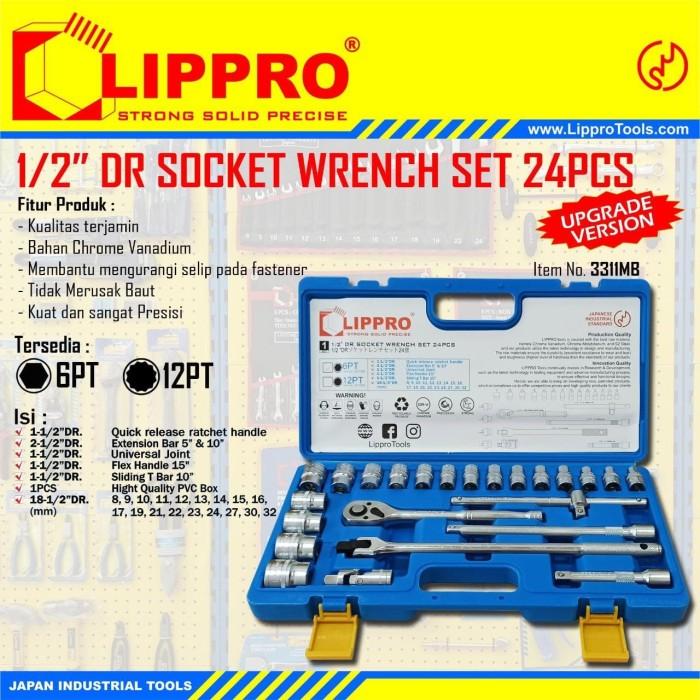 Foto Produk LIPPRO KUNCI SOK SET 24 PCS BOX PVC 6 PT KUNCI SOCK SHOCK SET 8 - 32MM dari JABAR TEKNIK