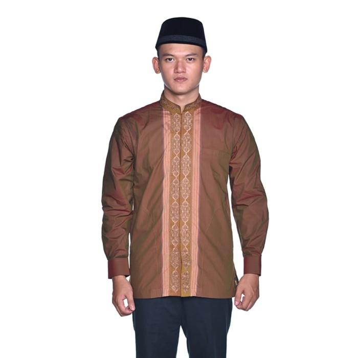 Foto Produk Baju Muslim BHS Classic Motif Triple Coklat - S dari Sarung BHS Official