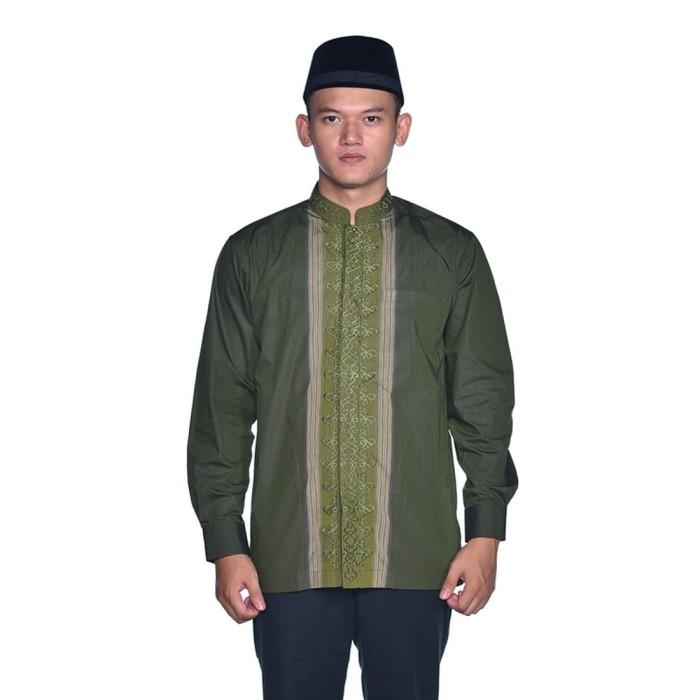 Foto Produk Baju Muslim BHS Classic Motif Triple Hijau - XL dari Sarung BHS Official